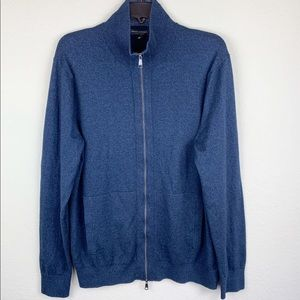 Banana Republic silk blend zipper jacket, size L